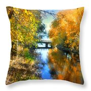 Autumn Reflections On A Friday Afternoon Throw Pillow