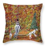 Autumn Ride Throw Pillow
