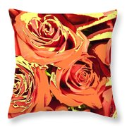 Autumn Roses On Your Wall Throw Pillow