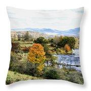 Autumn Rural Scene Throw Pillow