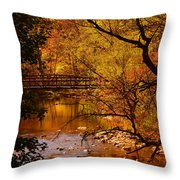 Autumn Scene Throw Pillow