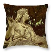 Red Autumn Sculpture Throw Pillow
