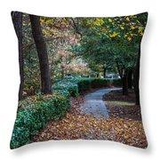 Autumn Side Walk Throw Pillow
