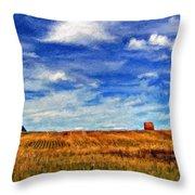 Autumn Sky Impasto Throw Pillow