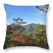 Autumn Smoky Mountains Throw Pillow