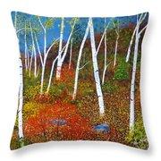 Autumn Splendour Throw Pillow