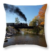 Autumn Steam Throw Pillow