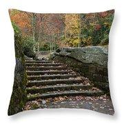 Autumn Stone Staircase Throw Pillow
