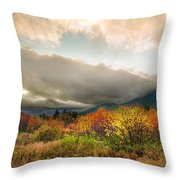 Autumn Storm Clearing Throw Pillow