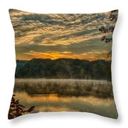 Autumn Sunrise At The Lake Throw Pillow