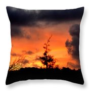 Autumn Sunrise From The Back Deck Throw Pillow