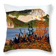 Autumn Sunset On The Hills Throw Pillow by Barbara Griffin