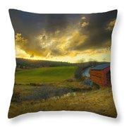 Autumn Sunset Over Meech Creek And Throw Pillow