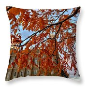 Autumn Temple Throw Pillow