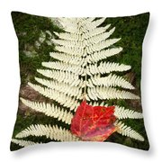 Autumn Textures Square Throw Pillow