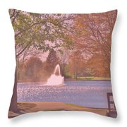 Autumn Time In The Park Throw Pillow