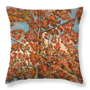 Autumn Tree Throw Pillow by Michael Anthony Edwards