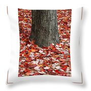 Autumn Tree Poster Throw Pillow