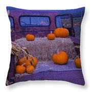 Autumn Truck Throw Pillow