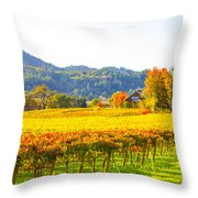 Dry Creek Valley Vineyards, California Throw Pillow