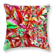 Autumn Virginia Creeper Throw Pillow