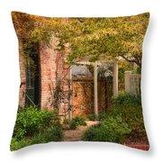 Autumn Walk In Pinehurst Throw Pillow