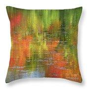 Autumn Water Colors Throw Pillow