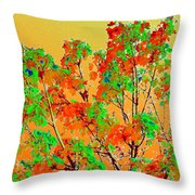 Autumn Watercolor Painting Throw Pillow