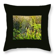 Autumn Web Throw Pillow