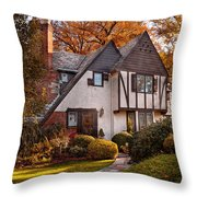 Autumn - Westfield Nj - Visting Grandpa's  Throw Pillow
