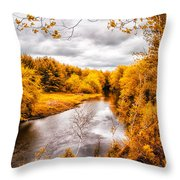 Autumn White Mountains Maine Throw Pillow