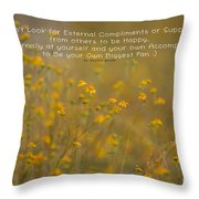 Autumn Wildflowers W Quote Throw Pillow