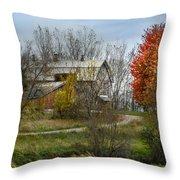 Autumn Winding Down Throw Pillow