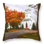 Autumn Worship Throw Pillow