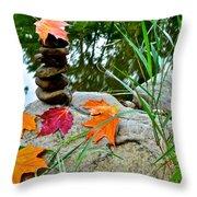 Autumn Zen Throw Pillow