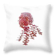 Autumnal Face Throw Pillow