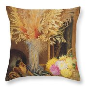 Autumnal Still Life Throw Pillow by Marian Emma Chase
