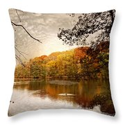 Autumn's Adieu Throw Pillow