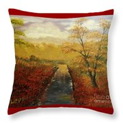 Autumn's Approach Throw Pillow