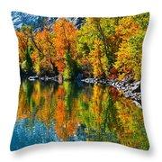 Autumn's Beauty Reflected Throw Pillow