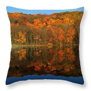 Autumns Colorful Reflection Throw Pillow