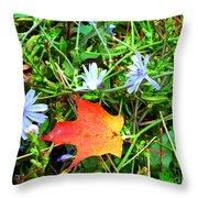 Autumns First Leaf Throw Pillow