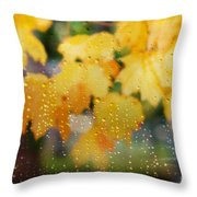 Autumns Tears Throw Pillow