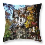 Autumn's Windows Throw Pillow
