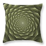 Avacado Vertigo Vortex Throw Pillow