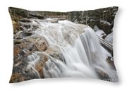 Avalanche Falls - White Mountains New Hampshire Usa Throw Pillow