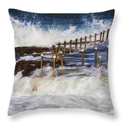 Avalon Rockpool In A Storm Throw Pillow