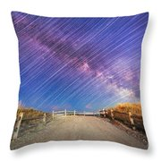 Avalon Star Trails  Throw Pillow