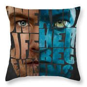 Avatar Quote Original Typography Art Throw Pillow
