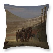 Ave Caesar Morituri Te Salutant , 1859 Throw Pillow